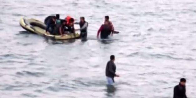 Des images de la même opération de sauvetage sur la plage turque de
