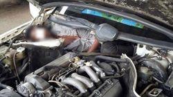 Un migrant retrouvé recroquevillé dans le moteur d'une voiture à