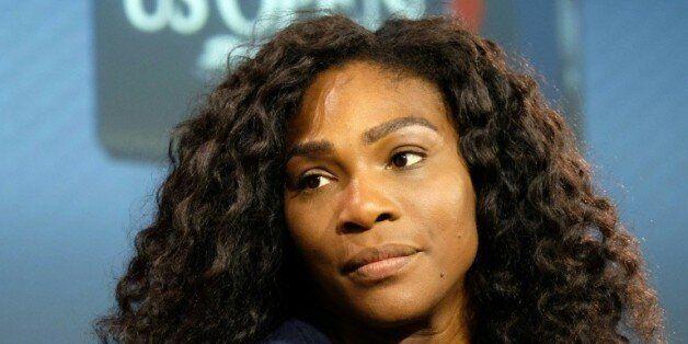 L'Américaine Serena Williams, numéro 1 mondiale, en conférence de presse avant le début de l'US Open...