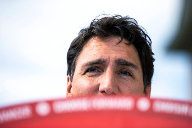 Liberal Party leader Justin Trudeau speaks during an election campaign stop in Brampton, Ont. on Sept....