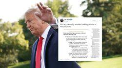 La Maison Blanche envoie par erreur les éléments de langage pour défendre Trump aux