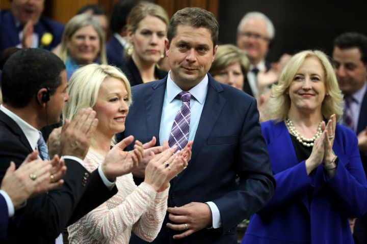 Conservative leader Andrew Scheer in Ottawa on May 29, 2019.