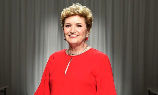MILAN, ITALY - JULY 15: Mara Maionchi attends the Aniye By fashion show at Tenoha Milano on July 15,...