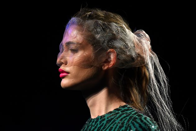 Brazilian model Valentina Sampaio during the Mercedes Benz Fashion Week in Madrid on July 10,
