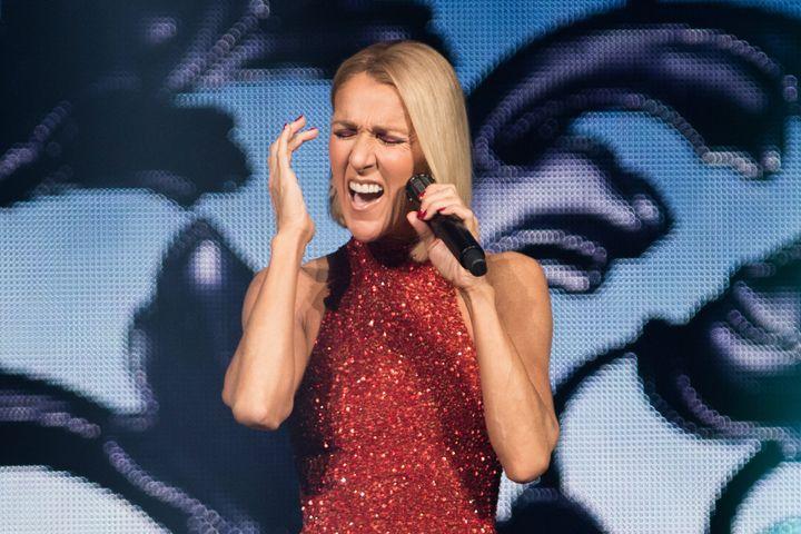 Céline Dion, alors qu'elle était à Québec pour la soirée d'ouverture de sa nouvelle tournée mondiale «Courage», au Centre Vidéotron, le 18 septembre 2019.