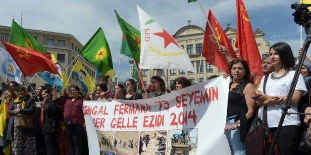 Des milliers de Kurdes manifestent en Allemagne et à Bruxelles contre les frappes