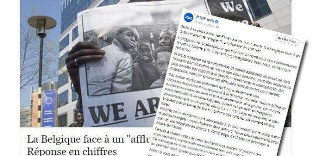 Exaspéré par les commentaires xénophobes sur Facebook, un journaliste belge adresse un message
