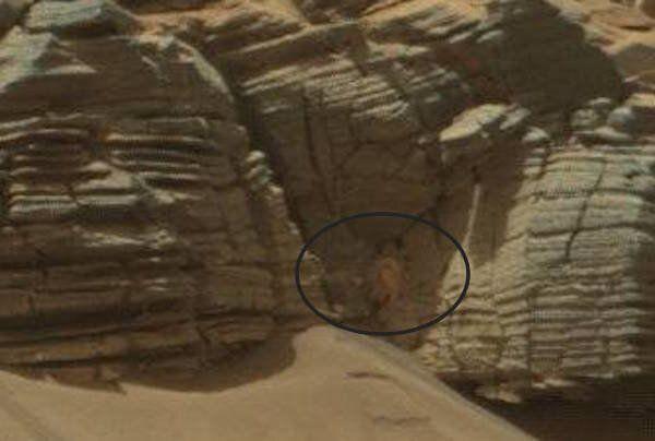 Mais qu'est-ce que cette chose sur la surface de Mars?
