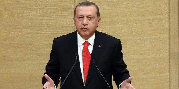 Le président islamo-conservateur turc Recep Tayyip Erdogan, le 11 août 2015 à