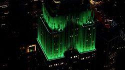 L'Empire State Building en vert pour célébrer la fin du