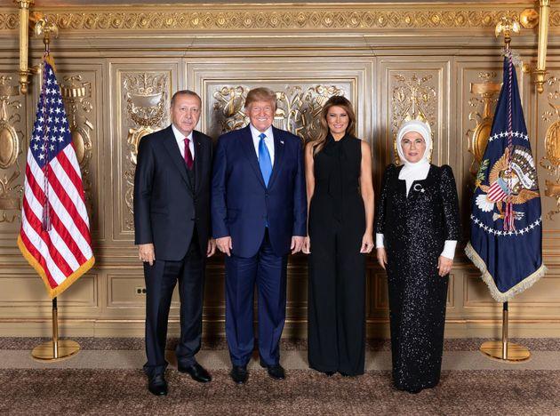 Τα ζεύγη Μητσοτάκη και Ερντογάν με τον Ντόναλντ και τη Μελάνια