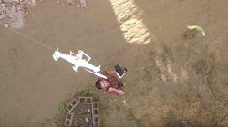 Il sauve son ancien drone avec son nouveau drone