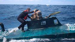 2000억원 어치 코카인을 실은 잠수함이 태평양에서