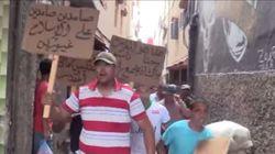 Manifestations devant les domiciles des deux hommes, accusés d'avoir reproduit le happening des