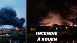 Les images de l'incendie de l'usine Lubrizol à