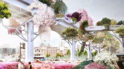 Une autoroute abandonnée bientôt transformée en jardin suspendu à