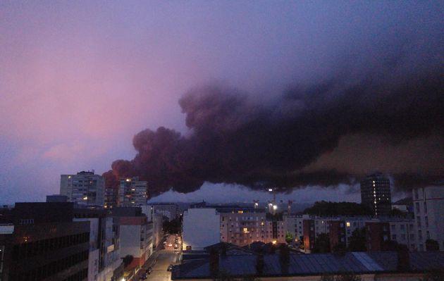 Incendie à Rouen dans l'usine Lubrizol, 26 septembre