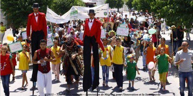 Tunisie: Des jeunes de Megrine se sont déguisés pour sensibiliser les habitants au recyclage et au tri