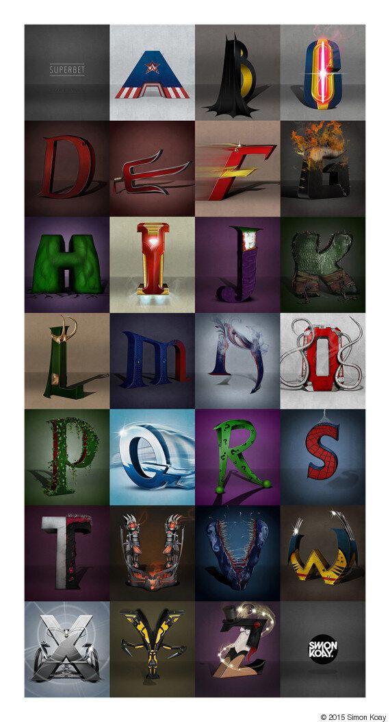 Chaque lettre correspond a un super-héros, saurez-vous les reconnaître?