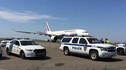 Un vol Air France atterrit à New York escorté par des avions de