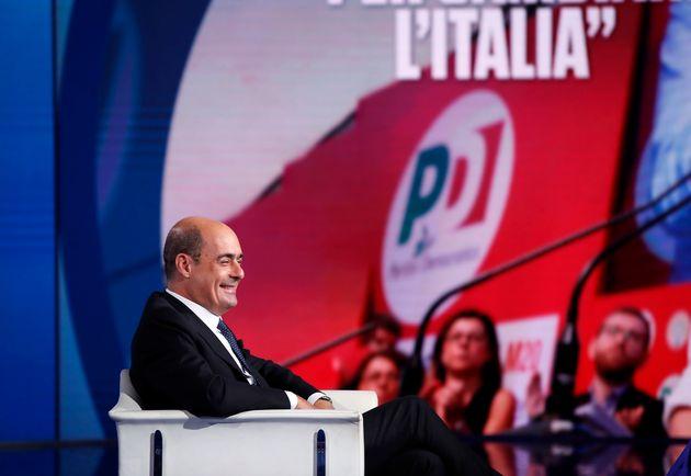 Italian politician Nicola Zingaretti during tv show Porta a Porta of Bruno Vespa. Rome (Italia), September...