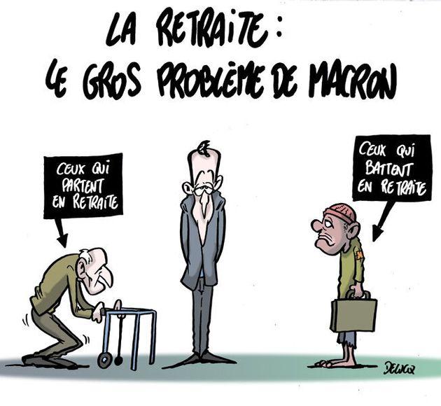 Emmanuel Macron face à la question des