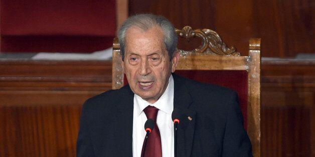 Mohamed Ennaceur, président de l'Assemblée, lors de son premier discours à l'Assemblée, le 4
