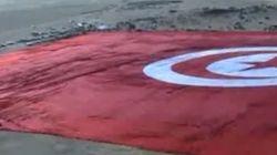 Le plus grand drapeau du monde enfin vu du