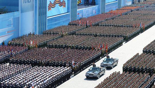 Les images impressionnantes de la parade russe pour célébrer la victoire sur l'Allemagne en