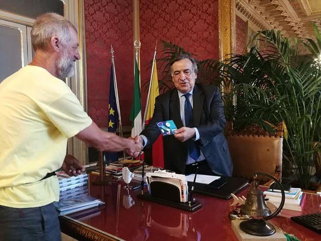 Sandro Chisté incontra il sindaco di Palermo Leoluca