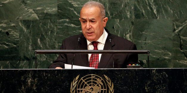 Foreign Minister Ramtane Lamamra of Algeria, addresses the 2015 Nuclear Nonproliferation Treaty (NPT)...