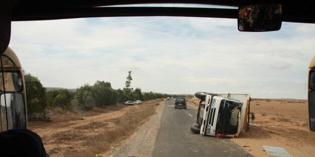Un accident au Maroc / Photo