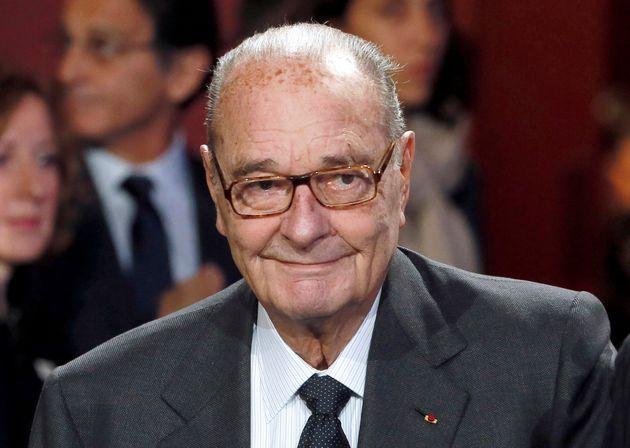 Jacques Chirac lors d'une cérémonie au musée du Quai Branly à Paris en