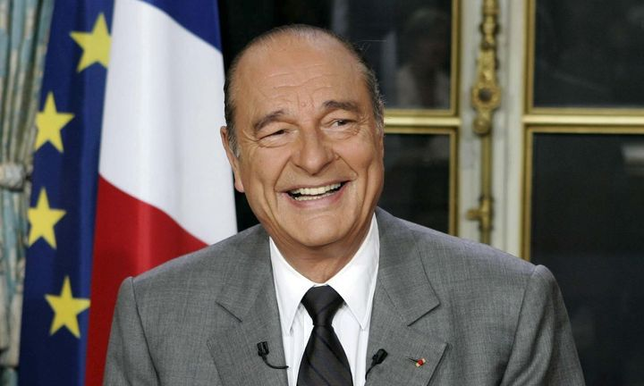 Jacques Chirac takes questions from journalists in Paris on May 3, 2005, while serving as president of France.