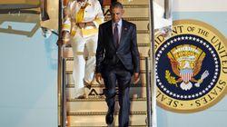 Obama est arrivé en Jamaïque, première pour un président américain depuis