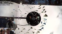 Une vidéo à 170.000 images par seconde d'un CD en train de se