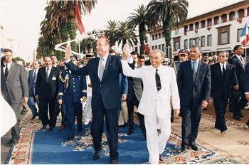 Jacques Chirac et Hassan II à Rabat, 19 juillet