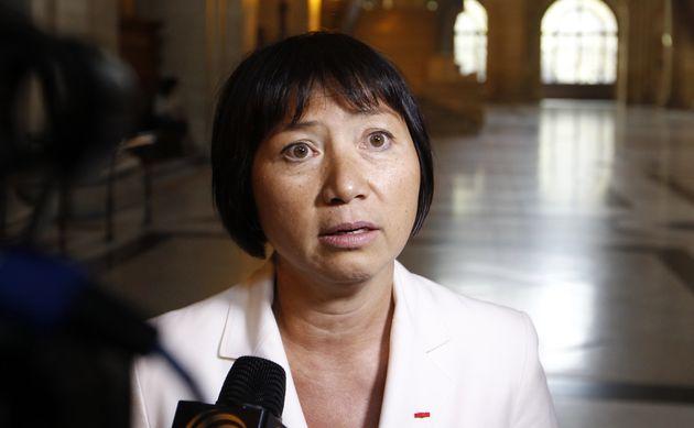 Anh-Dao Traxel, en septembre 2011, au procès de Jacques Chirac pour l'affaire des emplois