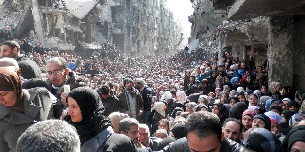 FILE - This picture taken on Jan. 31, 2014, and released by the United Nations Relief and Works Agency...
