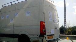Des propriétaires de Volkswagen Crafter défilent pour exprimer leur