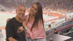 Claudia Nainggolan torna all'Olimpico. La moglie di Dzeko la incoraggia: