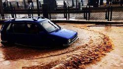 Averses: des routes bloquées et des bâtisses effondrées