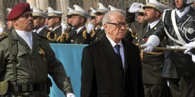 Le président tunisien Beji Caid Essebsi lors de la commémoration de l'indépendance le 20 mars 2015 à