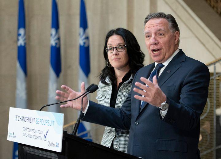 Sonia Lebel et François Legault (Jacques Boissinot/PC)