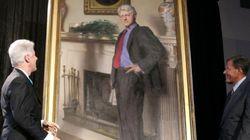 L'ombre de Monica Lewinsky dans un portrait de Bill