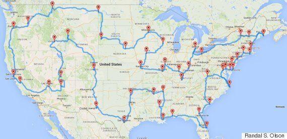 Le roadtrip ultime aux États-Unis: Voici le trajet idéal pour 50 arrêts