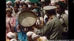 Mohammed V et Hassan II en visite à Télouet, le fief du