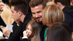 David Beckham et ses enfants se sont encore bien amusés au défilé de