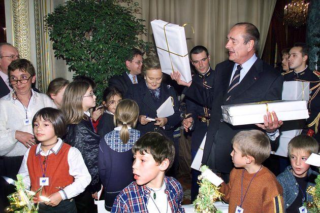 L'ancien président Jacques Chirac lors d'une fête de Noël organisée à