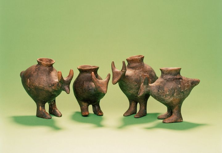 Late Bronze Age feeding vessels from Vosendorf, Austria. They're pretty adorable, actually.